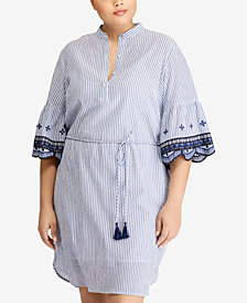Lauren Ralph Lauren Plus Size Embroidered Dress