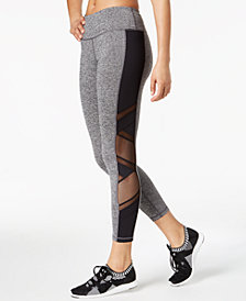 Ideology Mesh-Trimmed Ankle Leggings, Created for Macy's