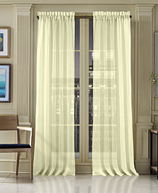 J Queen New York Waterbury Sheer Rod Pocket Curtain Panels