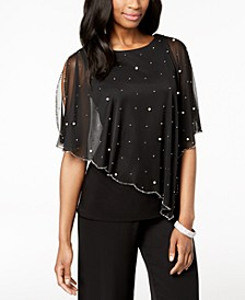 Embellished Asymmetrical Overlay Top