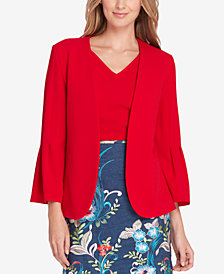 Tahari ASL Pleated Bell-Sleeve Blazer, Regular & Petite