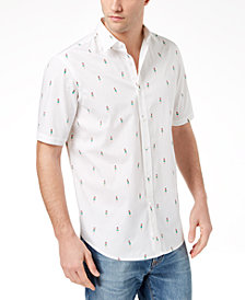 Club Room Men's Hula Girl Printed Shirt, Created for Macy's