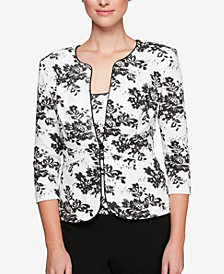 Alex Evenings Petite Embellished Floral Jacket & Shell