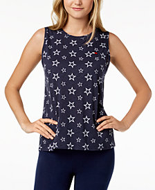 Tommy Hilfiger Sport Printed Sleeveless T-Shirt, Created for Macy's