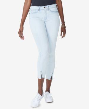 NYDJ Petites Ami Slit-Hem Ankle Skinny Jeans In Palm Desert