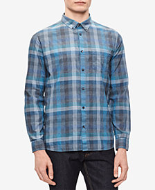 Calvin Klein Men's Block Plaid Shirt