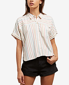Volcom Juniors' Need Now Button-Up Top