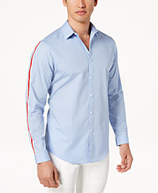 I.N.C. Men's Sleeve Striped Shirt, Created for Macy's