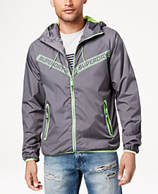 Superdry Men's Core Full-Zip Hooded Windbreaker
