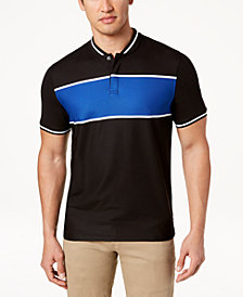 Club Room Men's Colorblocked Stripe Polo, Created for Macy's