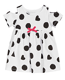 First Impressions Baby Girls Dot-Print Cold-Shoulder Cotton Tunic, Created for Macy's