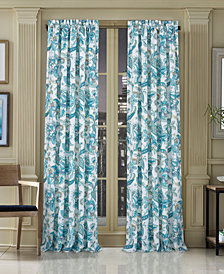 """J Queen New York Pristina 50"""" x 63"""" Floral-Paisley Rod Pocket Curtain Panel"""