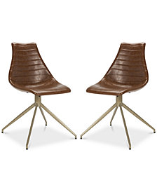Abbe Faux Leather Dining Chair (Set Of 2), Quick Ship