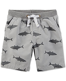 Carter's Little Boys Shark-Print Cotton Shorts