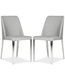 Chandler Linen Side Chair (Set Of 2), Quick Ship