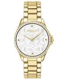 Women's Modern Sport Gold-Tone Stainless Steel Bracelet Watch 31mm