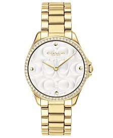 COACH Women's Modern Sport Gold-Tone Stainless Steel Bracelet Watch 31mm