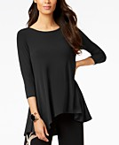 Alfani Petite Solid Swing Top Created for Macys