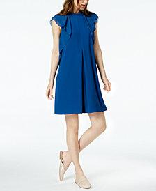 Marella Lazio Ruffled-Shoulder Georgette Dress
