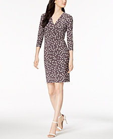 Anne Klein Dot-Print Dress