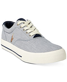 Polo Ralph Lauren Men's Vaughn Pinstripe Sneakers