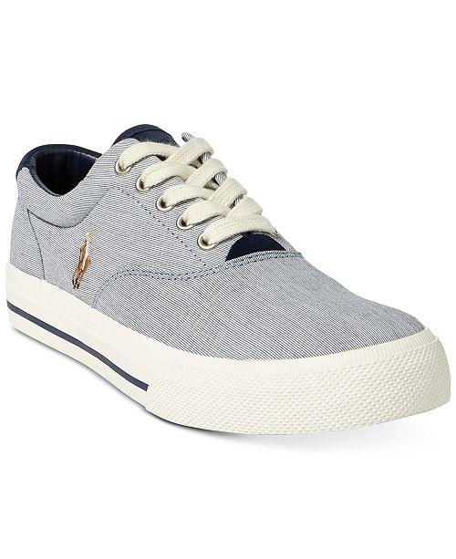 c3ac555d39de Polo Ralph Lauren Men s Vaughn Pinstripe Sneakers   Reviews - All ...