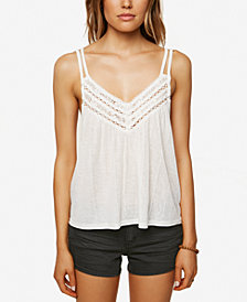 O'Neill Juniors' Unity Crochet-Trim Tank Top