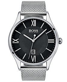 Hugo Boss Men's Governor Master Stainless Steel Mesh Bracelet Watch 44mm
