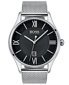 BOSS Hugo Boss Men's Governor Master Stainless Steel Mesh Bracelet Watch 44mm