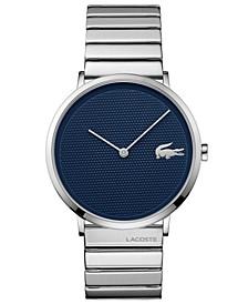 Men's Moon Ultra Slim Unilink Stainless Steel Bracelet Watch 40mm