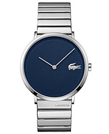 Lacoste Men's Moon Ultra Slim Unilink Stainless Steel Bracelet Watch 40mm