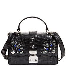 GUESS Britta Trunk Jeweled Shoulder Bag
