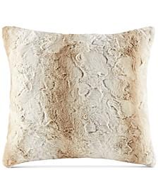 "Zuri Faux-Fur 20"" Square Decorative Pillow"