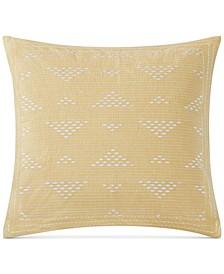 """Cario Embroidered 18"""" Square Decorative Pillow"""