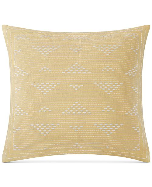 """INK+IVY Cario Embroidered 18"""" Square Decorative Pillow"""
