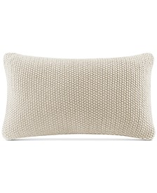 """Bree Chunky-Knit 12"""" x 20"""" Oblong Pillow Cover"""