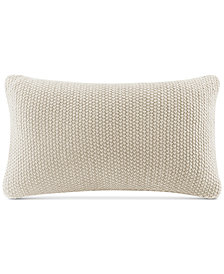 "INK+IVY Bree Chunky-Knit 12"" x 20"" Oblong Pillow Cover"