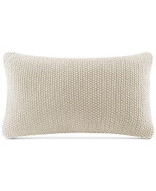 """INK+IVY Bree Chunky-Knit 12"""" x 20"""" Oblong Pillow Cover"""