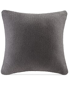 "Bree Chunky-Knit 26"" Square European Pillow Cover"