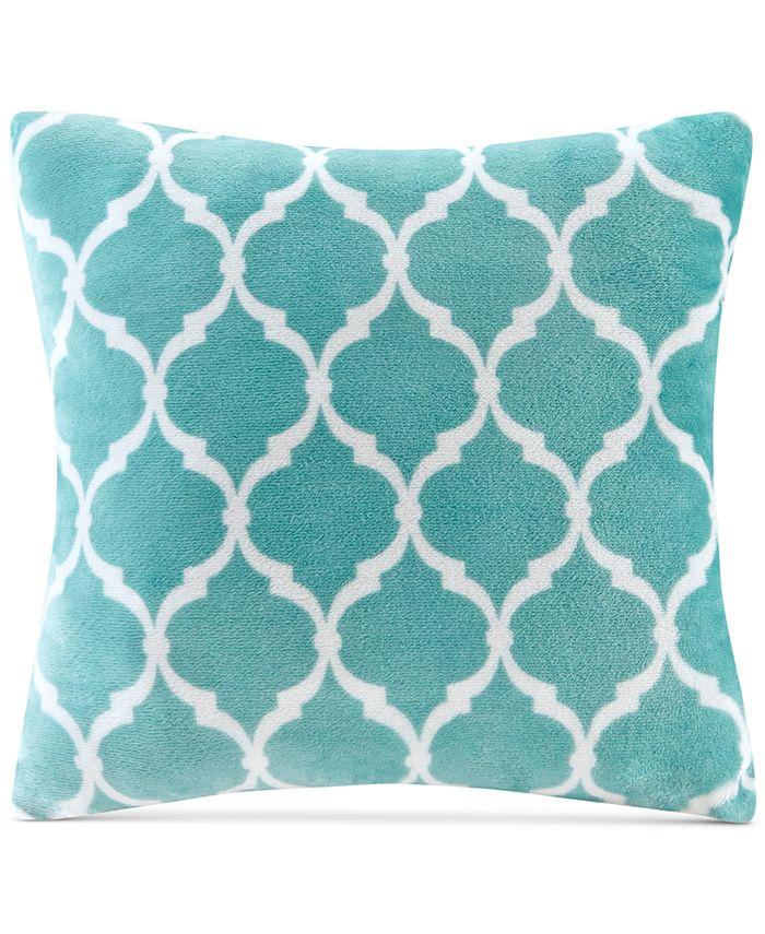 "Madison Park - 20"" Square Ogee-Print Microlight Plush Decorative Pillow"