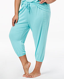 Jenni by Jennifer Moore Plus Size Cropped Pajama Jogger Pants, Created for Macy's