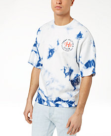 Tommy Hilfiger Denim Men's Percy Tie-Dyed Short-Sleeve Sweatshirt, Created for Macy's