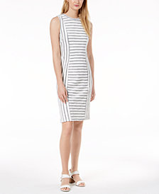 525 America Petite Striped Sheath Dress, Created for Macy's
