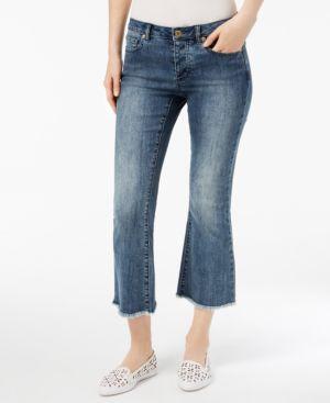 Michael Michael Kors Petite Cropped Kick-Flare Jeans 6279376