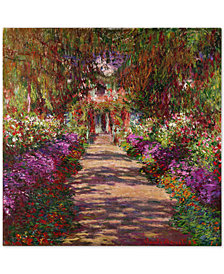 "Claude Monet 'A Pathway in Monet's Garden' 35"" x 35"" Canvas Wall Art"
