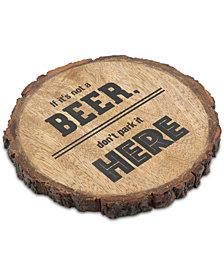 Thirstystone Beer Here Bark-Edge Coaster