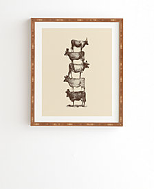 Deny Designs Cow Cow Nuts Framed Wall Art