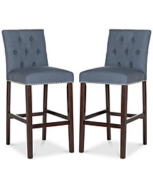 Boyton Fabric Bar Stool (Set Of 2), Quick Ship