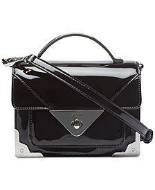 DKNY Mini Jaxone Top-Handle Patent Leather Crossbody, Created for Macy's