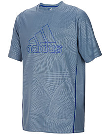 adidas Logo-Print Embossed Printed T-Shirt, Little Boys